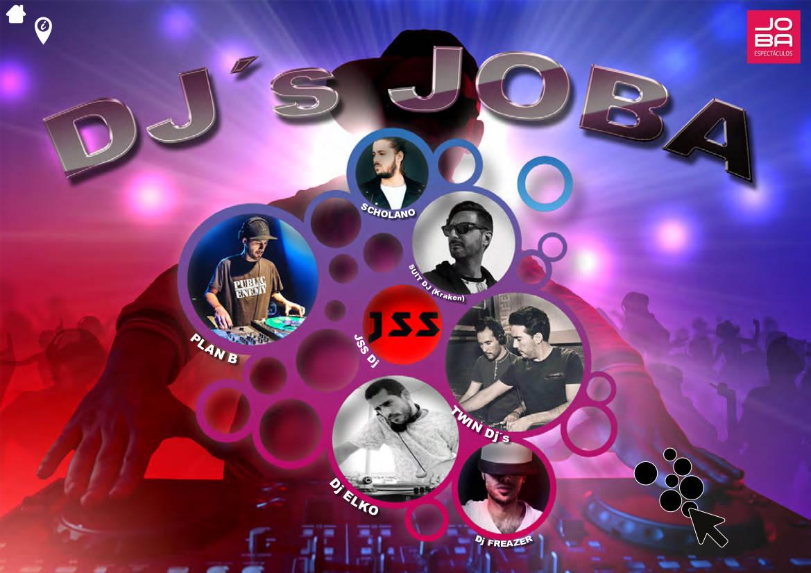 Contratacion DJS nacionales e internacionales roster JOBA Espectáculos