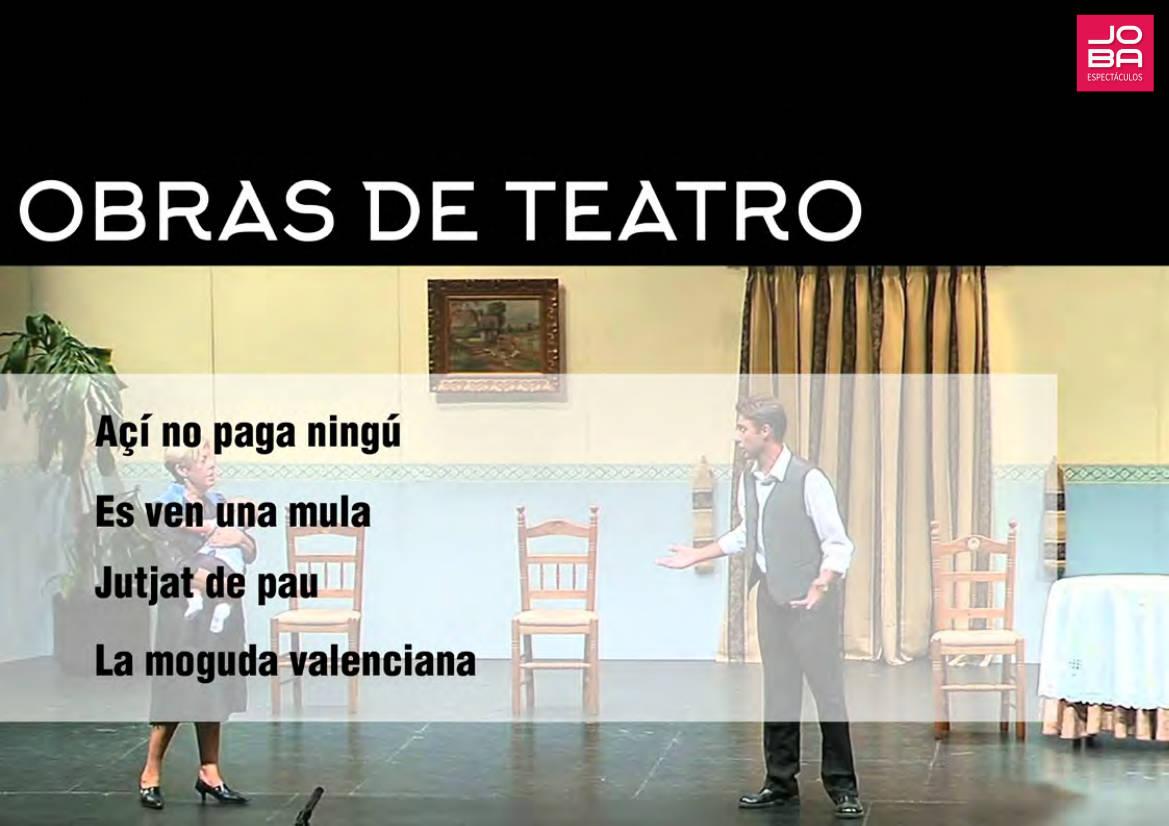 Contratar obras de teatro en valenciano - JOBA Espectáculos