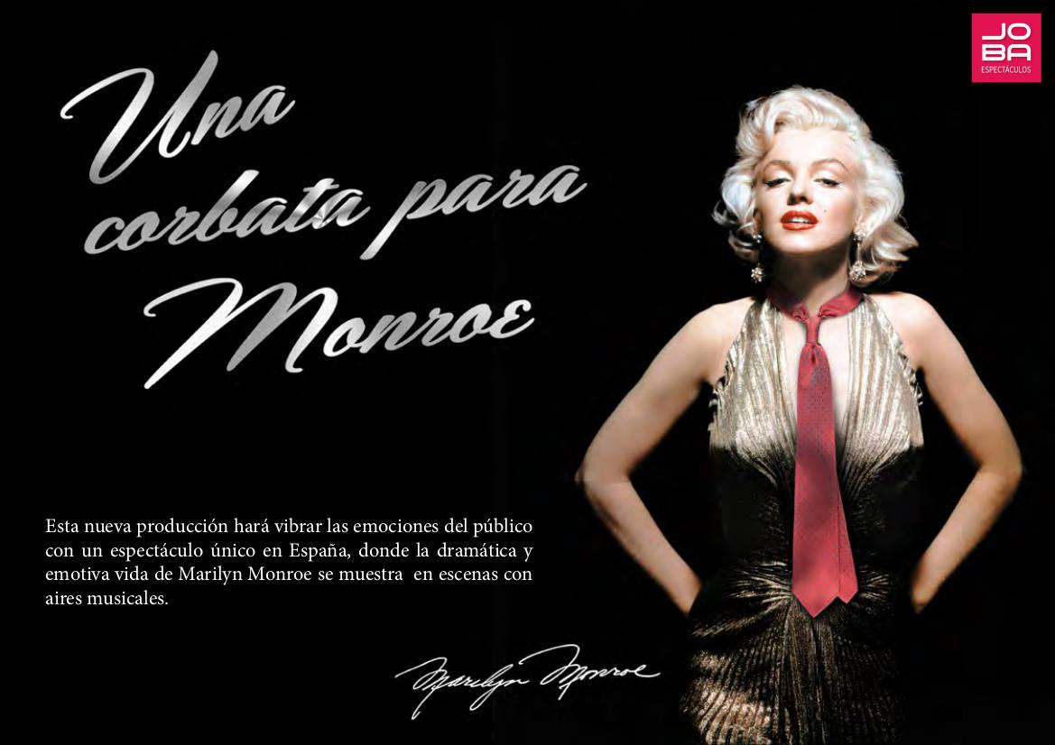 """Contratar obra de teatro """"Una corbata para Monroe"""" - JOBA Espectáculos"""