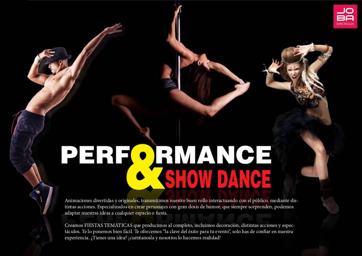 Espectáculos performance y show dancers en JOBA Espectáculos