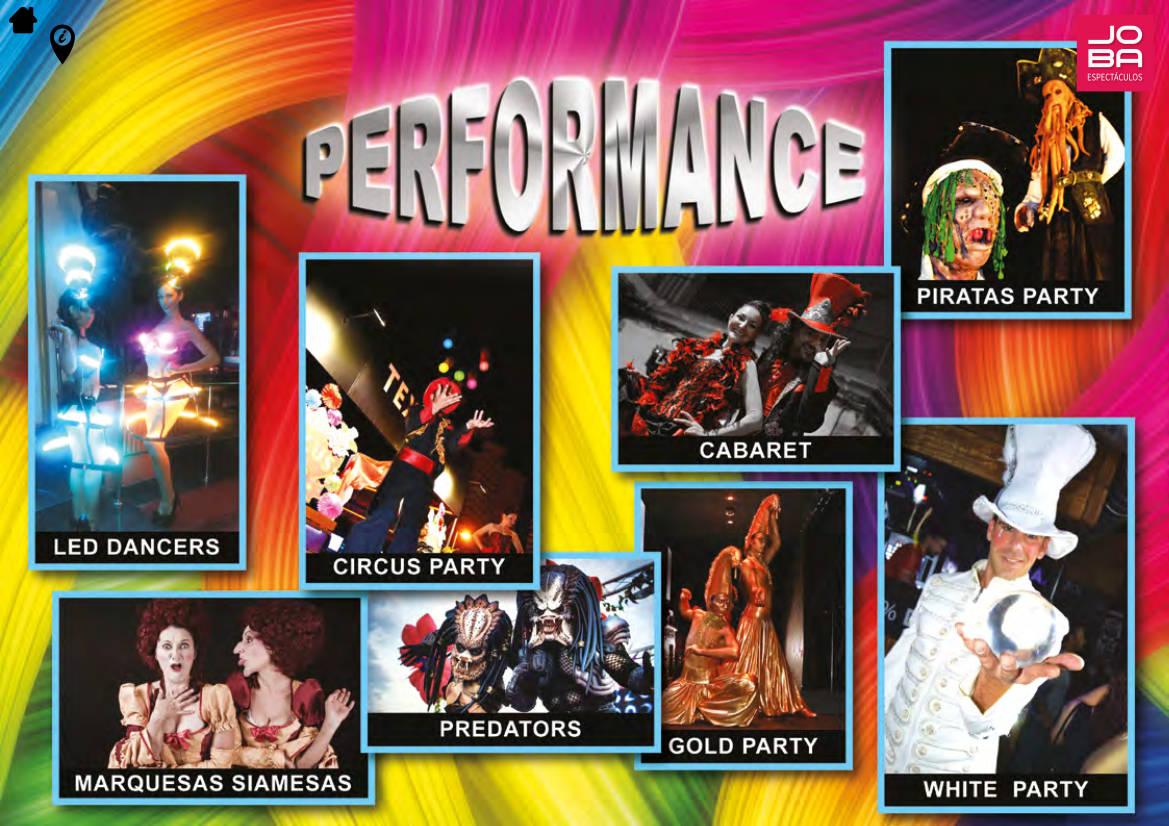tu espectáculo de performance en JOBA Espectáculos