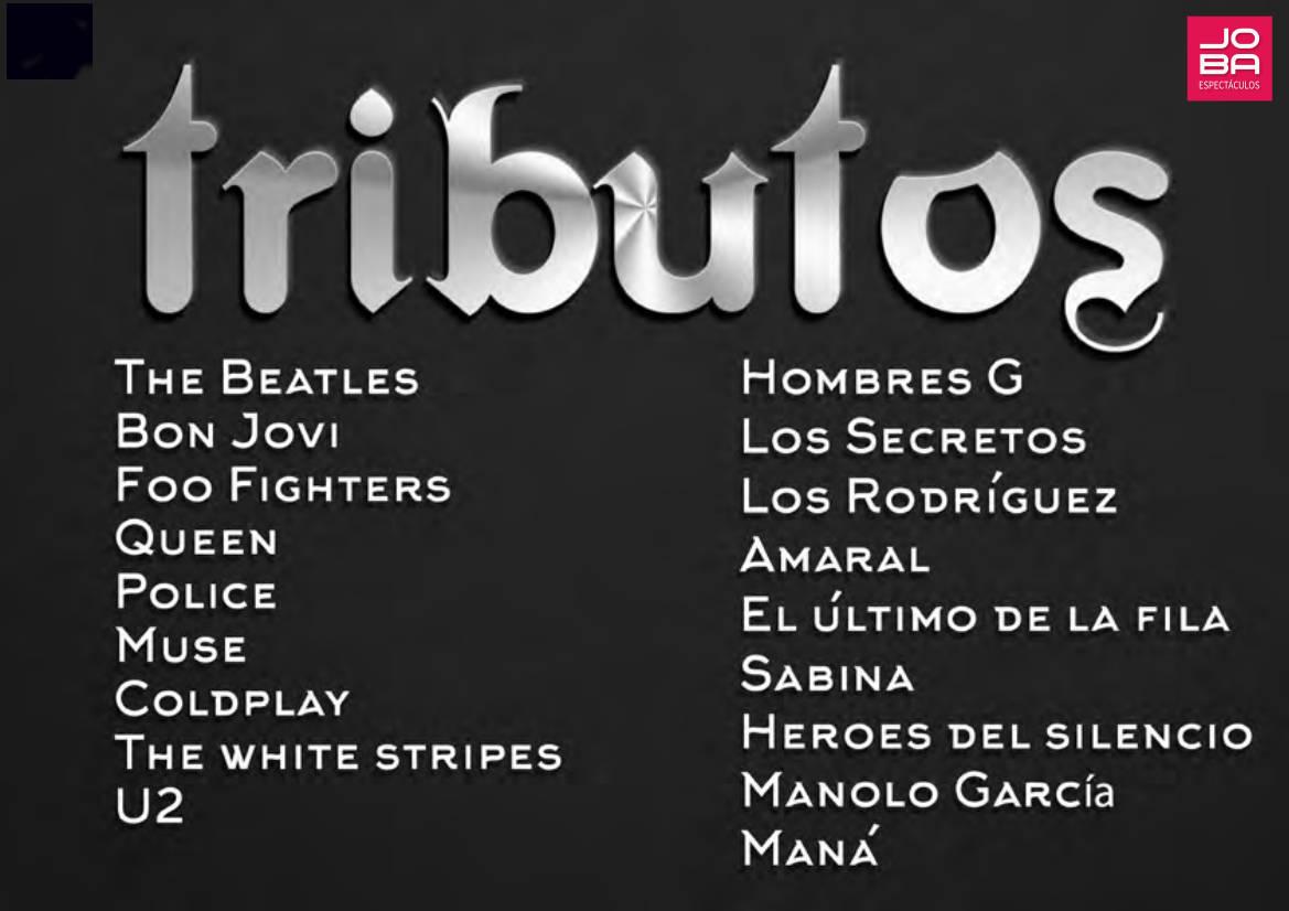 contratacion grupos musicales tributos a bandas