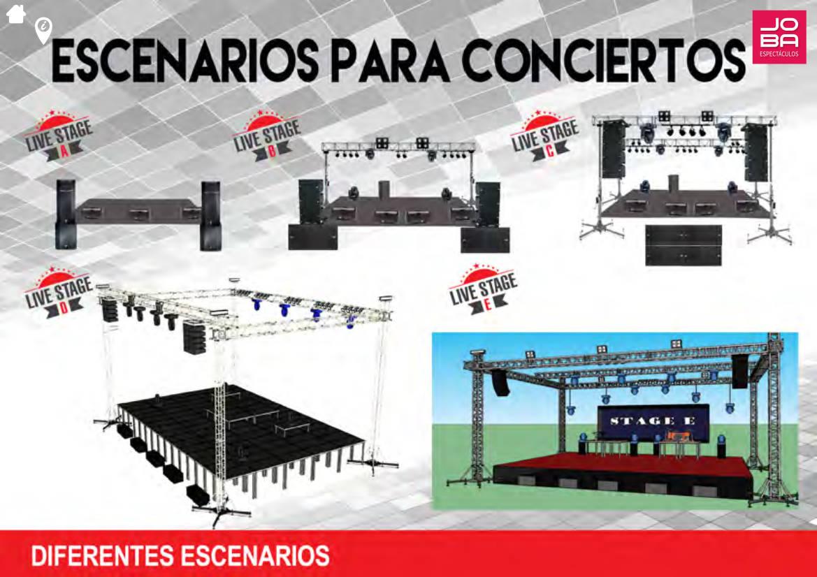 Contratar servicio escenarios para conciertos - JOBA Espectáculos