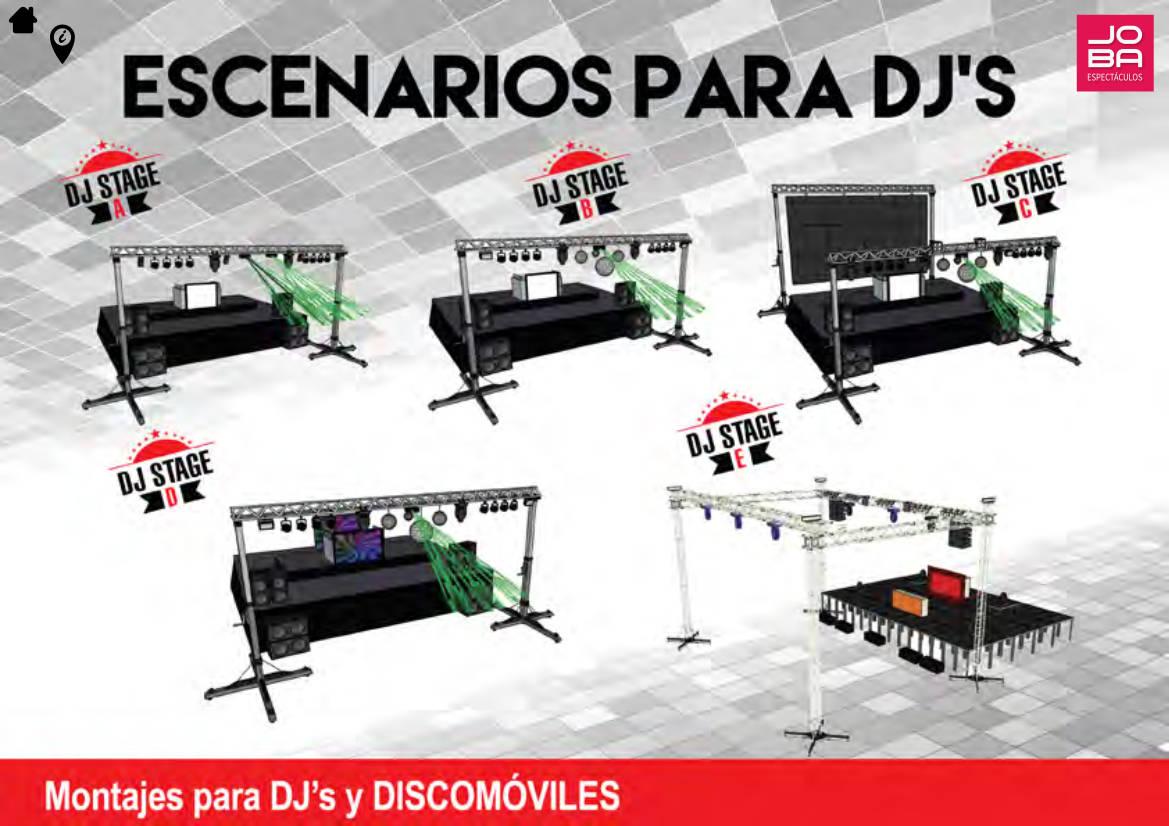 escenarios para djs