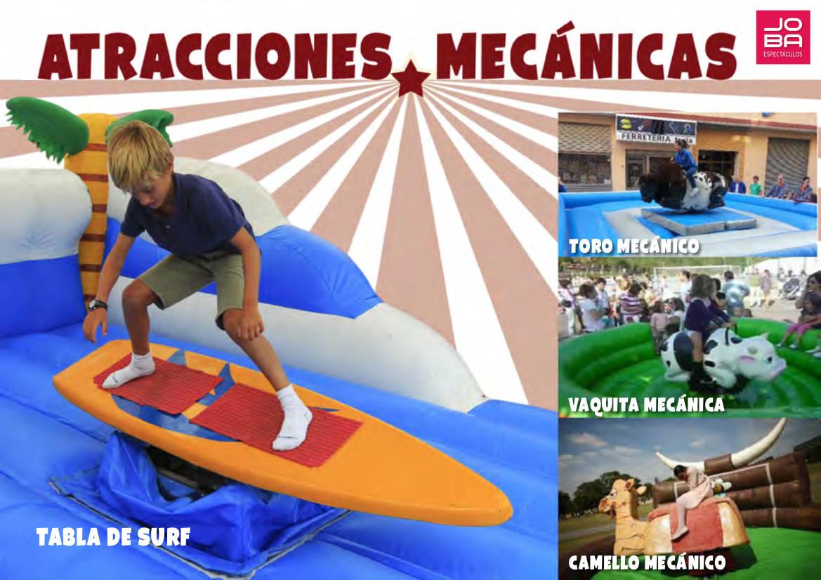 Atracciones Mecánicas infantiles con JOBA Espectáculos