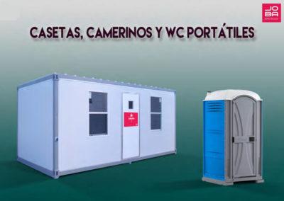 Casetas, Camerinos y Wc Portátiles