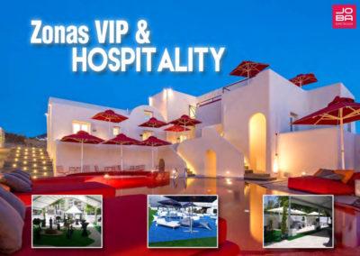Zonas VIP y Hospitality