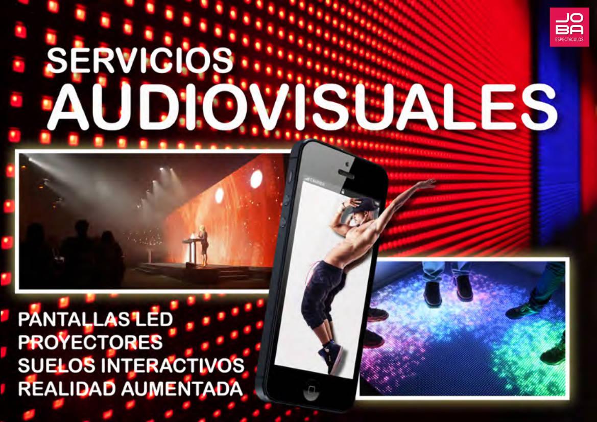 Servicio Audiovisuales en toda España: Pantallas Led, proyectores, suelos interactivos, realidad aumentada y mucho más.. -JOBA Espectáculos
