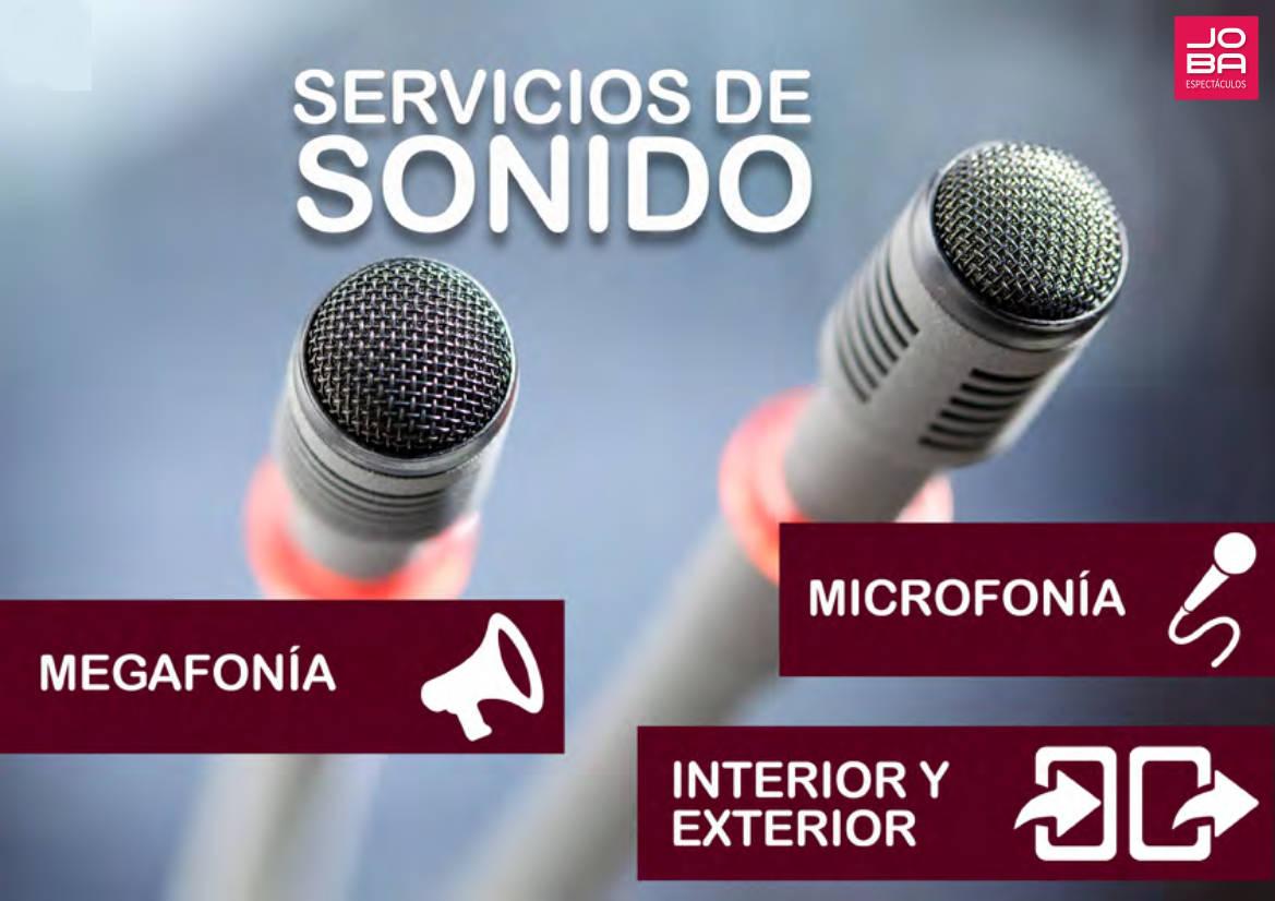 Servicio de Sonido para Eventos y Espectáculos de todo tipo- Servicio a toda España - JOBA Espectáculos