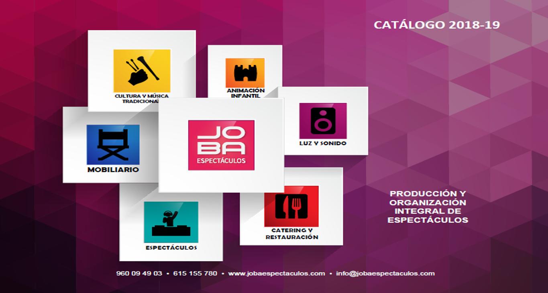 catálogo de servicios JOBA ESPECTÁCULOS